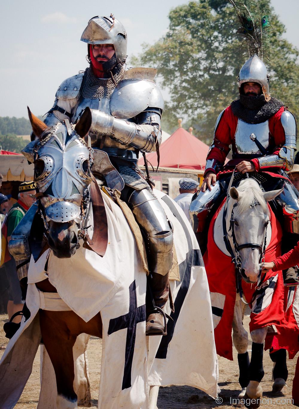 Teutons riding horseback, approaching