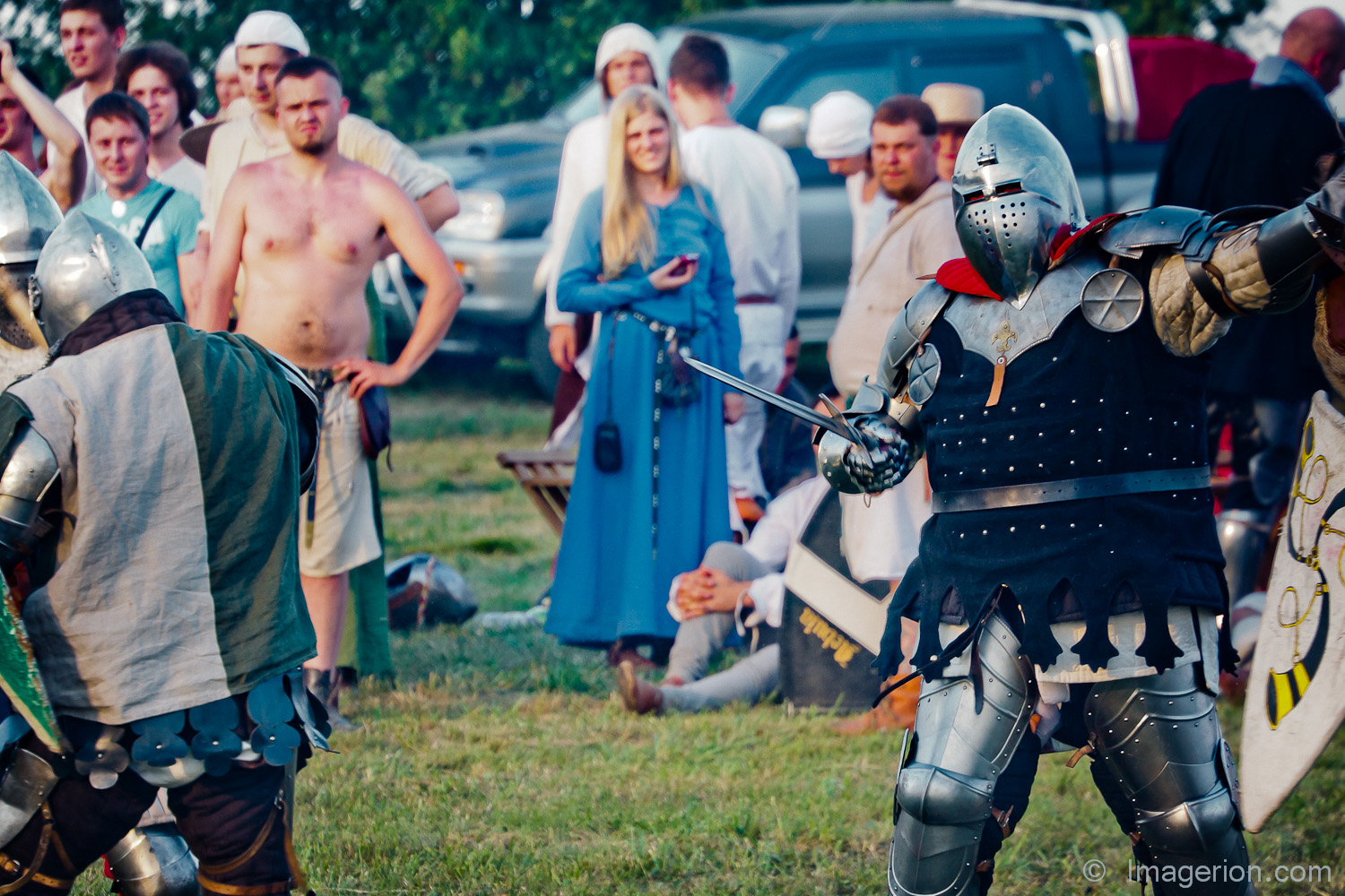 A knight showing he'll win
