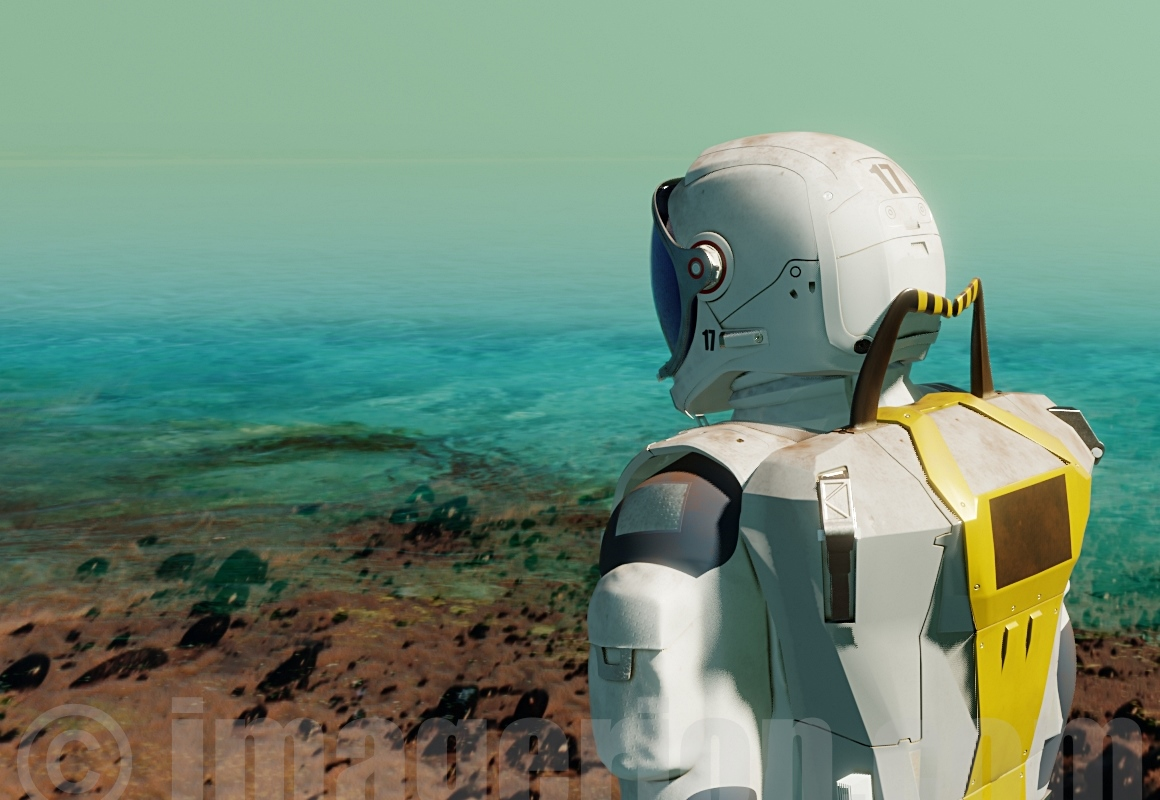 EVA space suit concept - by Plrang Art