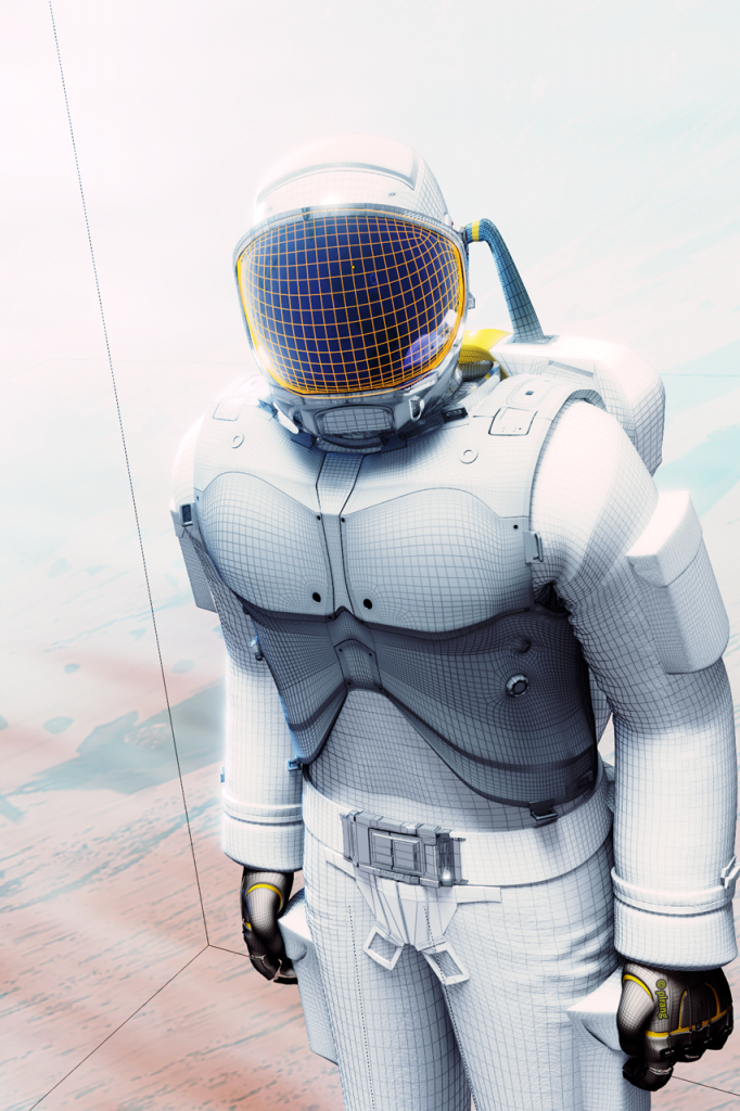 Space suit conceptual illustration, work in progress