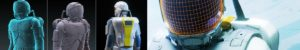 EVA space suit concept art 3D