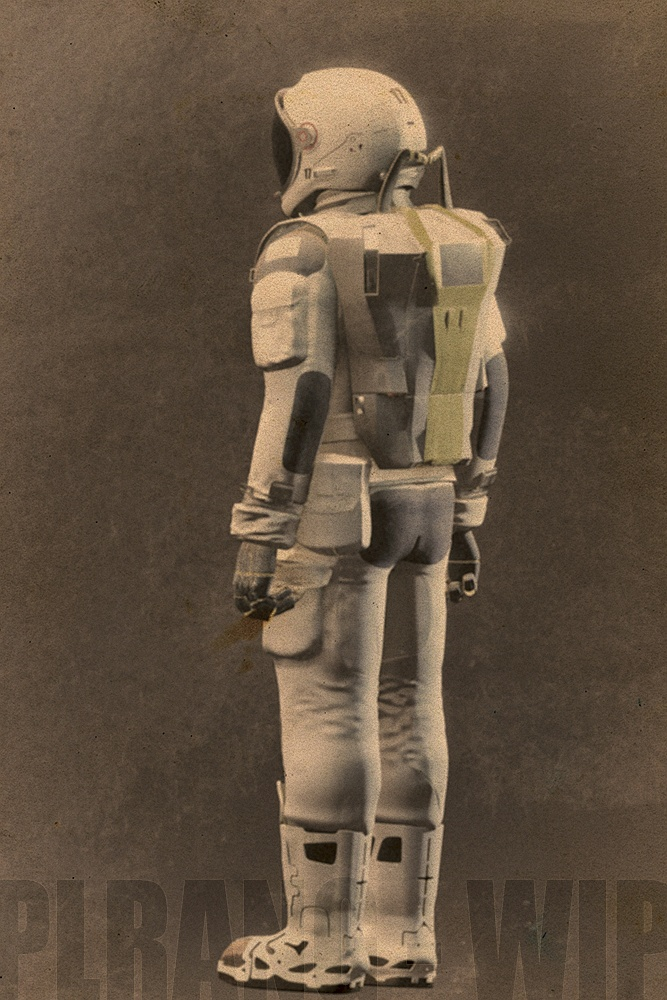 Back of the space suit concept design