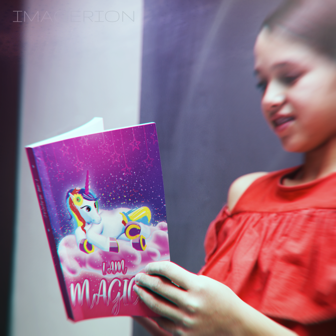 I Am Magical: Unicorn, Large Print Discreet Book for Website & Email Passwords, Alphabetical Tabs