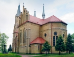 Image of church. Neo-Gothic Saint Anne Church in Krynki / Poland