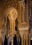 Image of Spain. Columns in Courtyard of the Lions – Alhambra / Spain