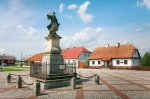 Image of statues. Monument to Stefan Czarniecki in Tykocin / Poland