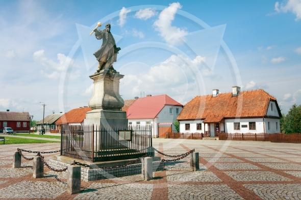 Monument to Stefan Czarniecki in Tykocin / Poland