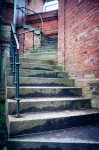 Image of stairs. Winding stairs