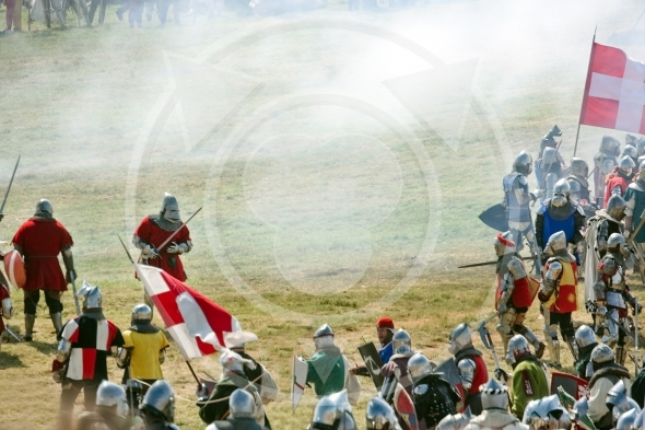 Clash in smoke, Polish, Lithuanian Knights battle vs Teutons