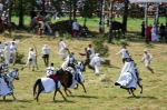 Image of battle. Teutonic Knights attack