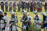 Image of knights. Knights, crusaders tired after the -Battle of Grunwald 1410 reenactment
