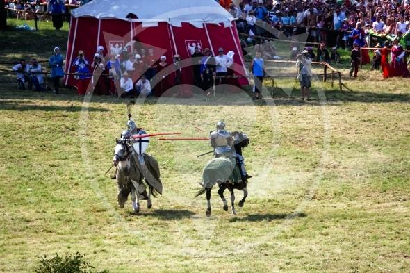 Single combat, Teutonic Knight versus Polish Knight jousting