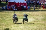 Image of jousting. Single combat, Teutonic Knight versus Polish Knight jousting