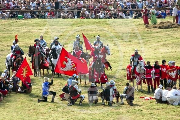 Polish King Wladyslaw Jagiello after victory at Grunwald