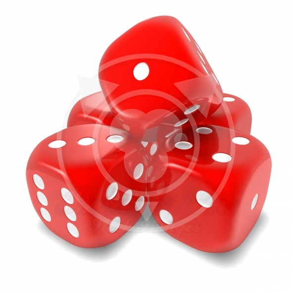 Dice red set