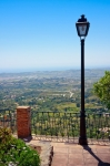 Image of lamp. Lantern at Viewpoint in Mijas Pueblo