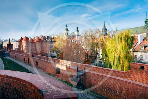 Fortified medieval outpost – Warsaw barbican