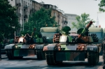 Image of army. Tanks in the city