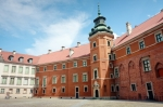 Image of castle. Yard of the Royal Castle in Warsaw