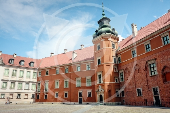Yard of the Royal Castle in Warsaw
