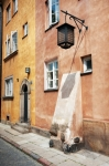Image of Warsaw. Old tenement house