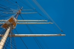 Image of mast. Mast and yard of a wind-powered vessel