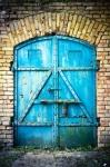 Image of gate. Iron gate