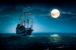 Image of pirates. Pirate ship Flying Dutchman