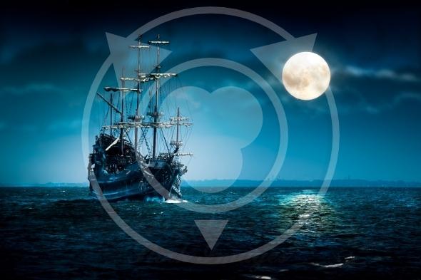 Pirate ship Flying Dutchman