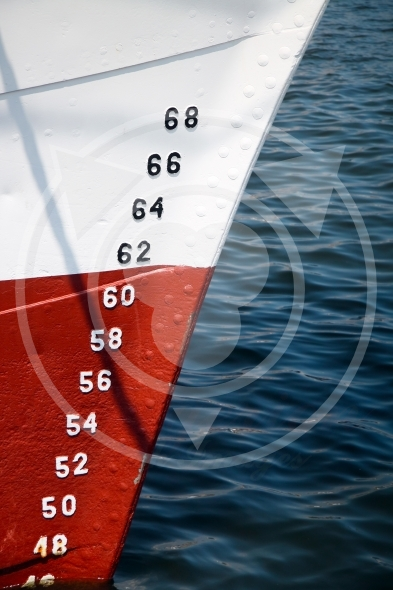 Numbers of ships depth gauge