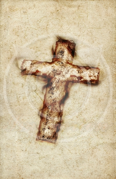 Vintage Holy Cross paper background