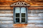 Image of window. Window in wooden wall