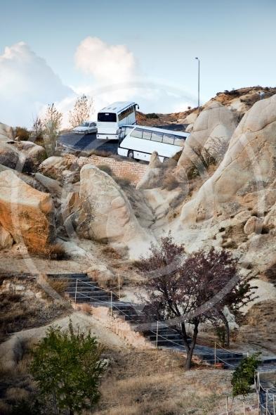 Magic bus trip to the mountains of Cappadocia