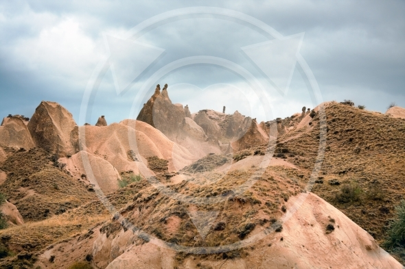 Hills of Cappadocia in Turkey