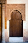 Image of door. Ancient door of  Alhambra Palace
