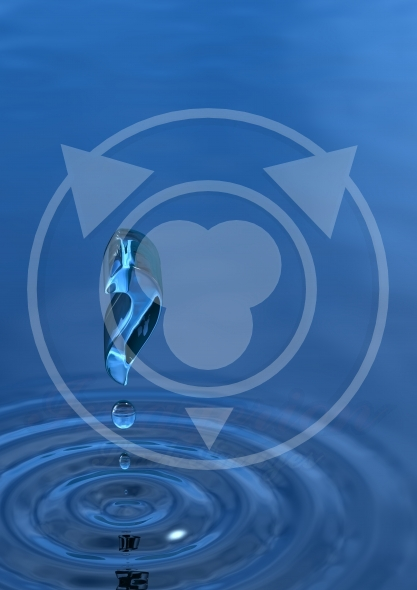 Question mark of water ripple
