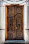 Image of door. Decorated door in Granada