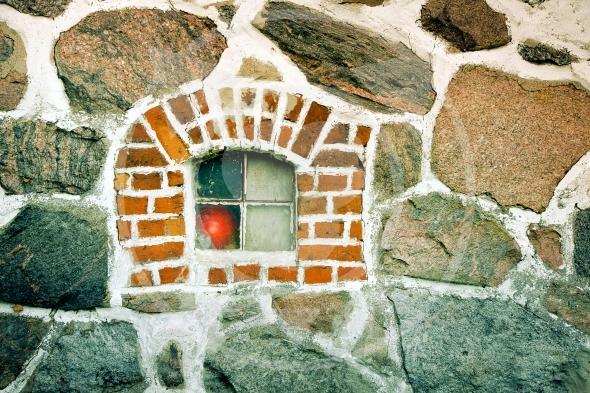 Window in a stone wall