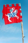 Image of flag. Lithuania Ancient  Flag – Coat of Arms of  Court Banner