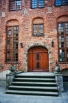 Image of door. Tenement in Elblag City, Poland