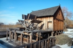 Image of mill. Wooden Watermill