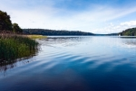 Image of lake. Blue Masurian lakes