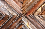 Image of pattern. Wooden board tile converging lines