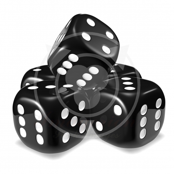 dice shown in the image
