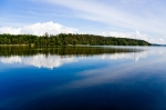Image of Masuria. Blue lake surface