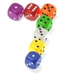 Image of dice. Lucky seven dice