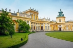Image of palace. Wilanow – Royal Palace in Warsaw