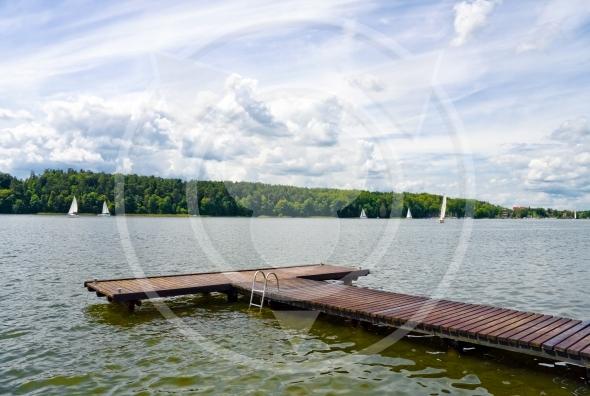 Masurian Lakes District, pier in Mikolajki
