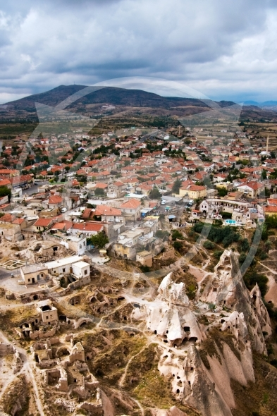 Small town and ruins in Uchisar
