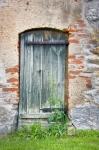 Image of door. Wooden door of an old barn